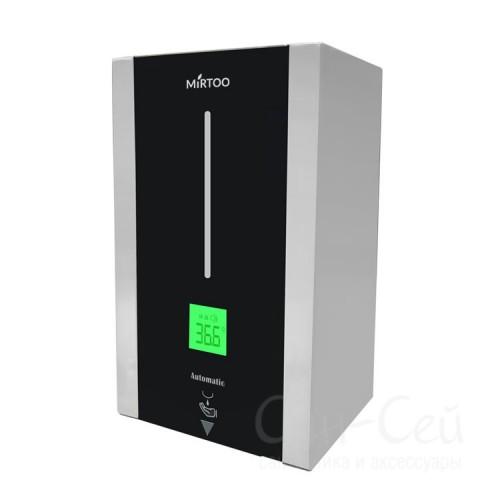 Дозатор MIRTOO TF88 сенсорный с термометром для антисептика металлический, 1 литр