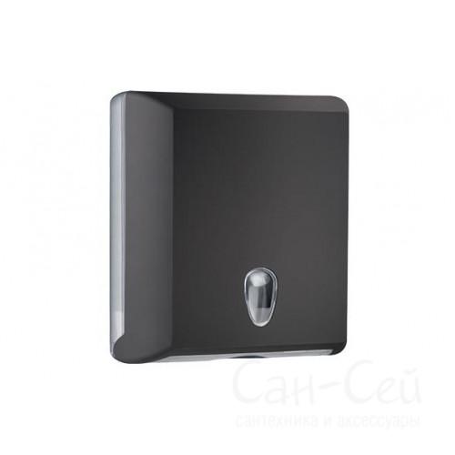 Диспенсер для бумажных полотенец Nofer Black 04031, черный