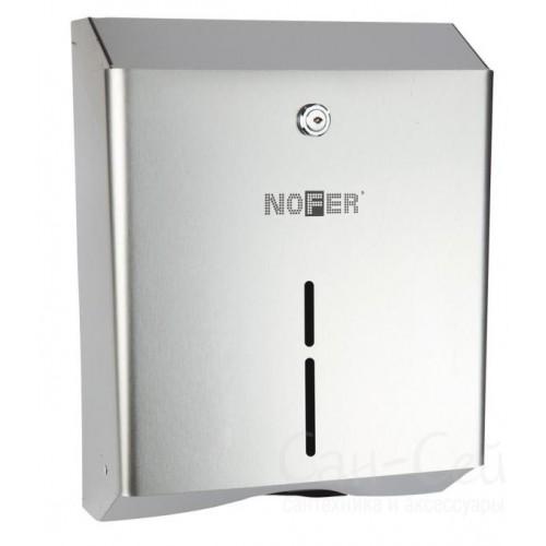Диспенсер для бумажных полотенец из Nofer 04010.S, матовый