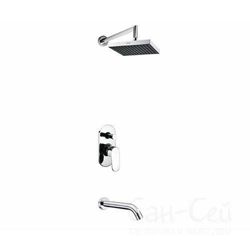 Встраиваемый комплект для ванны WasserKraft A13028 с изливом и верхней душевой насадкой